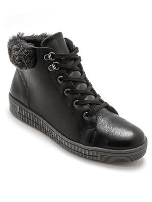 Boots lacées et zippées