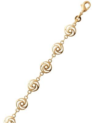 Bracelet rosace plaqué or