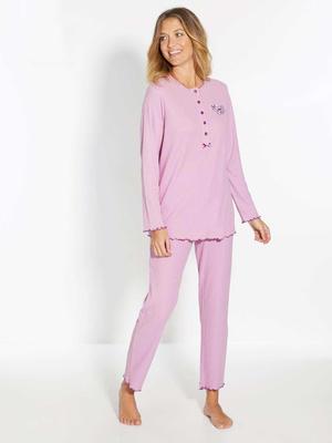 Pyjama manches longues en coton bio