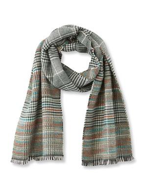 Echarpe à carreaux, avec laine