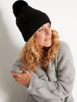 Bonnet à pompon, accessoire mode