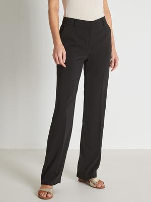 Pantalon droit en crêpe