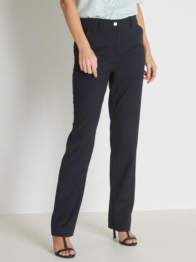 Pantalon ceinture réglable coupe droite - Charmance - Modalova