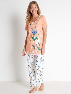 Pyjama manches courtes maille bio