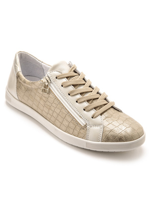 Baskets basses zip et lacets
