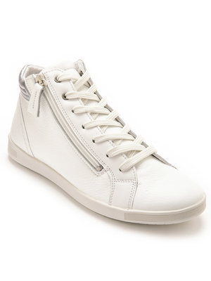Baskets montantes zip et lacets