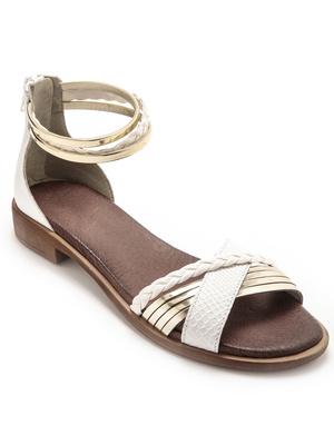 Sandales talon zippé à aérosemelle