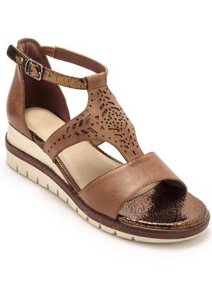 Sandales ajourées et pailletées