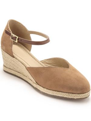Sandales hautes semelle corde