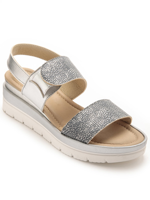 Sandales métallisées élastiquées
