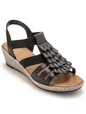 Sandales fantaisie compensées