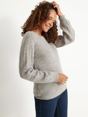 Pull avec laine et alpaga