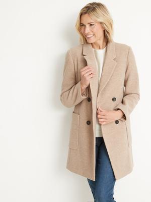 Manteau droit croisé