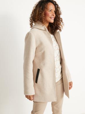Duffle-coat zippé 33% laine