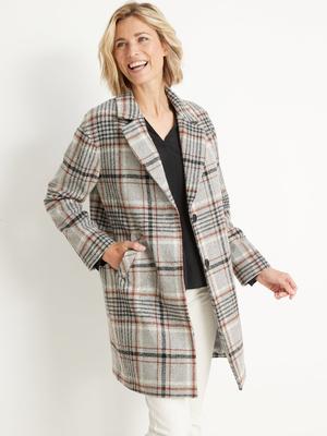 Manteau croisé 45% laine