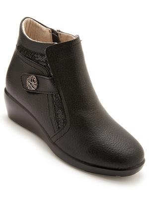 Boots compensées avec zip et élastique