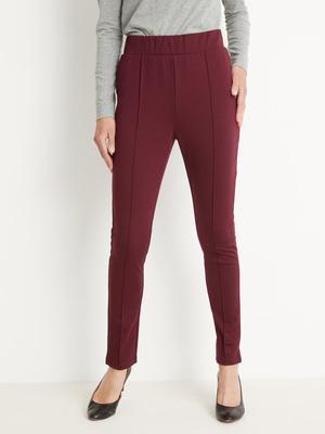 Pantalon droit élastiqué maille milano