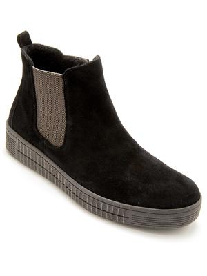 Boots cuir velours zippées