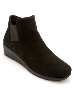 Boots zippées et élastiquées cuir