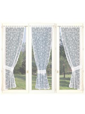 3 rideaux  larg. 60cm et 3 embrasses