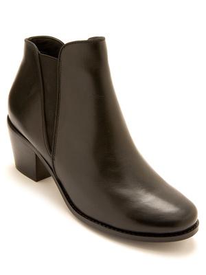 Boots cuir zippées et élastiquées