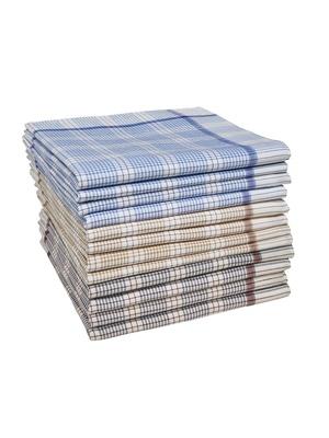 Lot de 12 mouchoirs pour homme