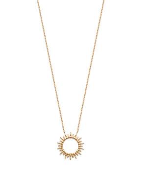 Collier chaîne soleil plaqué or