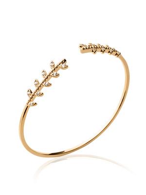 Bracelet jonc zirconias blancs plaqué or