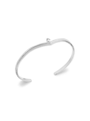 Bracelet jonc argent rhodié - MAISON DE LA BIJOUTERIE - Modalova