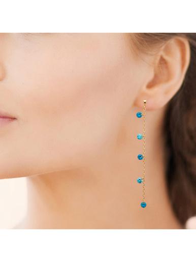 Boucles d'oreilles plaqué or - MAISON DE LA BIJOUTERIE - Modalova