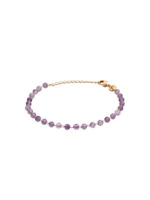 Bracelet plaqué or amethyste